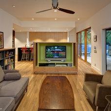 Contemporary Family Room by Stuart Sampley Architect