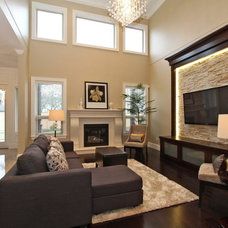 Contemporary Family Room by KASHMIR DHALIWAL FINE REDESIGN.