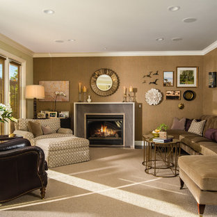 Inspiration For A Mid Sized Timeless Enclosed Dark Wood Floor Family Room Remodel In San