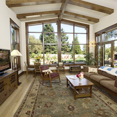 Traditional Family Room by Allen Construction