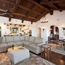 Mediterranean Family Room by Lindsey Adams Construction Inc.