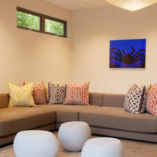 Contemporary Family Room by Maienza-Wilson Interior Design + Architecture