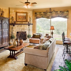 Mediterranean Family Room by Sitterle Homes