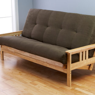 Monterey Natural Frame with Olive Suede Mattress