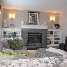 Traditional Family Room by Marie Hebson's interiorsBYDESIGN Inc.