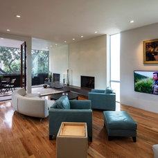 Contemporary Family Room by Jeffrey Harrington Homes