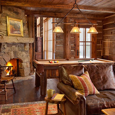 Rustic Family Room by MILLER ARCHITECTS PC