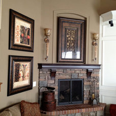 Traditional Family Room by Chris Merenda-Axtell Interior Design