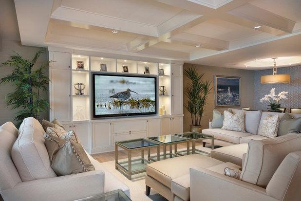 Современный Семейная комната by Grand Woodworking