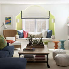 eclectic family room by Lucy Interior Design