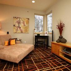 Contemporary Family Room by Pangaea Interior Design, Portland, OR