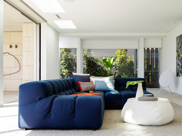 Contemporary Family Room by TKD Architects