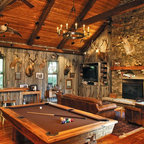 Home On The Ranch Rustic Family Room Houston By