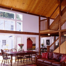 Traditional Family Room by Yankee Barn Homes