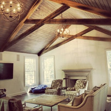 Traditional Family Room by Lovette Construction