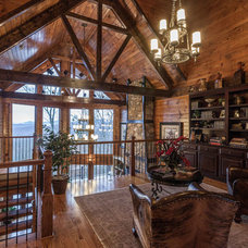 Rustic Family Room by Trimble Kelly Studios
