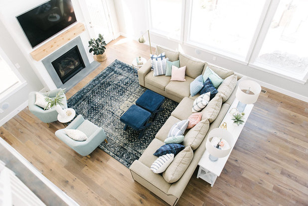 Transitional Family Room by Design Loves Detail