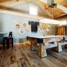 Rustic Family Room by Reclaimed DesignWorks