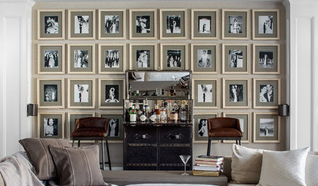 Photo Gallery Wall Stars in a Stylish New Family Room