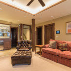 Crosswater Ski Lodge Rustic Family Room Portland