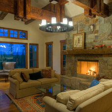 Traditional Family Room by Bear Mountain Builders
