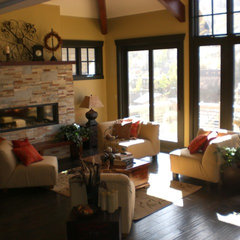 eclectic family room by Bethany Poole
