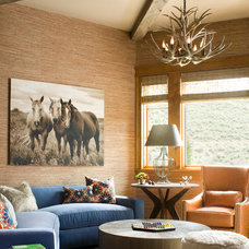 Rustic Family Room by Studio 80 Interior Design