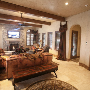 Mounted TV's above fireplace