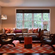 Transitional Family Room by BJS  Assoc Interior Design