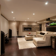 Contemporary Family Room by Just Basements