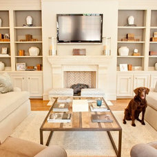 traditional family room by Munger Interiors