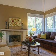 Contemporary Family Room by Room Solutions Staging