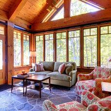 Rustic Family Room by Patricia Lorimer Interiors & Design