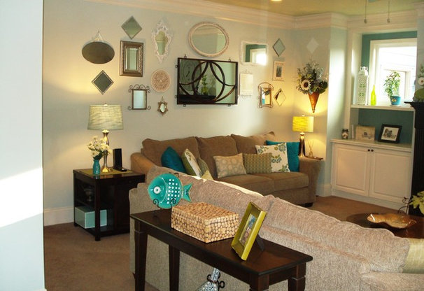 Eclectic Family Room by A B Xpress