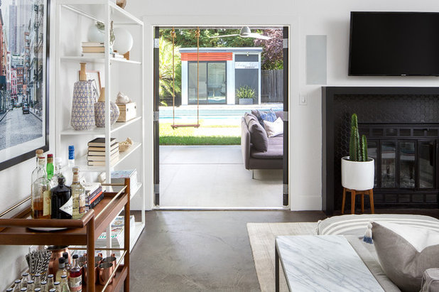 Eclectic Family Room by Design Shop Interiors