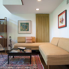 Midcentury Family Room by Adrienne DeRosa