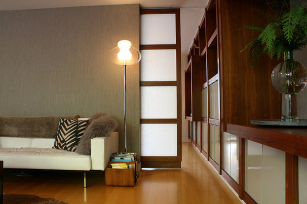 Midcentury Family Room by Shannon Malone