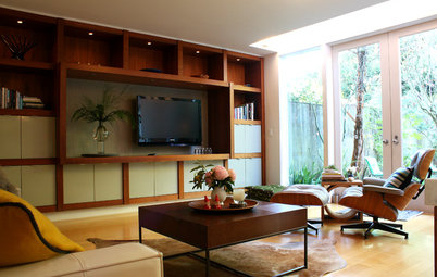 My Houzz: Sleekness and Soft Touches in a Midcentury Home
