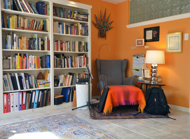 Eclectic Family Room by Sarah Greenman