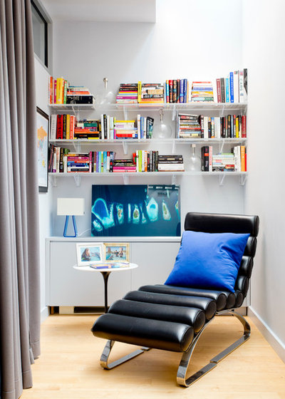 Contemporary Family Room by Rikki Snyder
