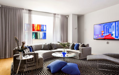My Houzz: A West Chelsea Duplex Combines Modern Style and Glamour