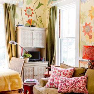 Inspiration for an eclectic family room remodel in Boston