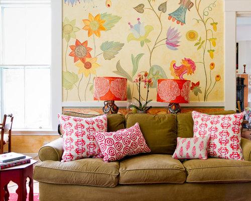 Living Room Wall Murals Houzz