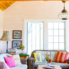 farmhouse family room by Rikki Snyder