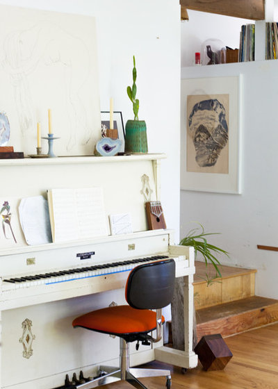 Eclectic Family Room by Ellie Lillstrom Photography