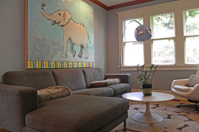 Craftsman Family Room by Sarah Greenman