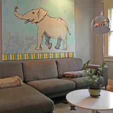 Craftsman Family Room by Sarah Greenman