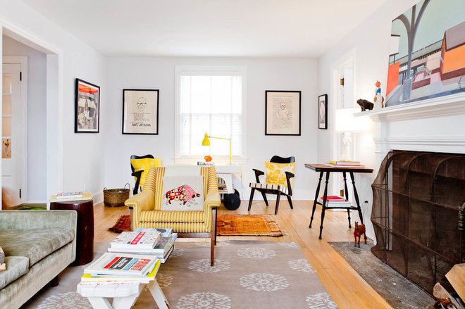 Eclectic Family Room by Rikki Snyder