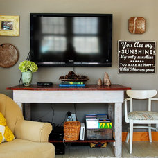 Rustic Family Room by Corynne Pless