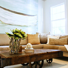 Eclectic Family Room by Mina Brinkey